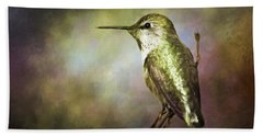 Anna's Hummingbird 2 Beach Sheet