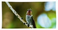 Anna's Hummingbird Beach Towel