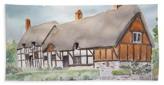Anne Hathaway's Cottage Beach Sheet by Marilyn Zalatan