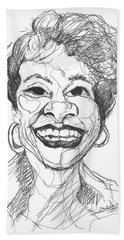 Annette Caricature Beach Towel