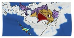 Beach Towel featuring the digital art Another Fish Story by John Haldane