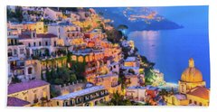 Another Glowing Evening In Positano Beach Towel