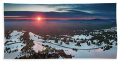 Beach Towel featuring the photograph Another Sunset At Crater Lake by William Lee