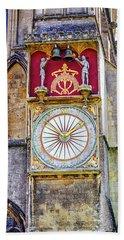Anotomical Clock At Wells, Uk Beach Towel