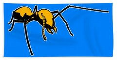 Ant Graphic  Beach Towel by Pixel  Chimp