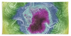 Antarctica Abstract Beach Sheet by Geraldine Alexander