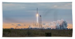 Antares Launch From Wallops Island Beach Towel