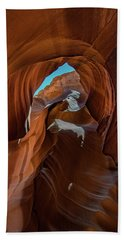 Antelope Canyon 16 Beach Sheet by Phil Abrams
