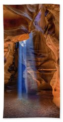 Antelope Canyon Blues Beach Sheet by Phil Abrams