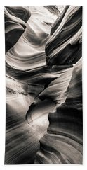 Antelope Canyon Bw Beach Towel