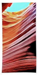 Beach Sheet featuring the photograph Antelope Canyon by Lorella Schoales