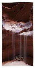 Antelope Canyon Sand Stream Beach Towel