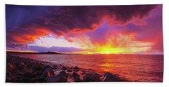 Antelope Island Sunset Beach Towel