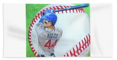 Anthony Rizzo 2016 Beach Towel by Melissa Goodrich