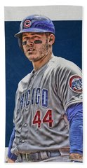 Anthony Rizzo Chicago Cubs 3 Beach Towel