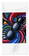Antics - Abstract Ant Painting - Chromatic Acrylic Art - Ai P. Nilson Beach Towel