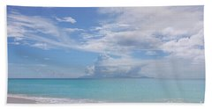 Antigua Beach View Of Montserrat Volcano Beach Towel