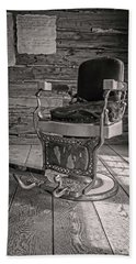 Beach Towel featuring the photograph Antique Barber Chair by Scott Read