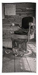 Antique Barber Chair Beach Sheet