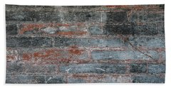 Beach Towel featuring the photograph Antique Brick Wall by Elena Elisseeva