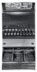 Beach Sheet featuring the photograph Antique Cash Register 1 by James Aiken