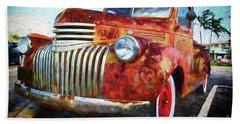 Antique Chevrolet Truck Beach Towel