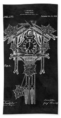 Antique Cuckoo Clock Patent Beach Towel by Dan Sproul