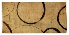 Beach Sheet featuring the painting Antique Ensos by Julie Niemela