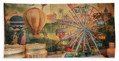Antique Ferris Wheel Walt Disney World Mp Beach Towel