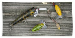 Antique Fishing Lures Beach Towel