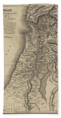 Antique Map Of Canaan Beach Towel