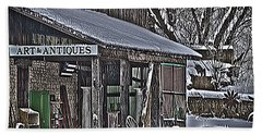 Beach Towel featuring the photograph Antique Shack by Deborah Klubertanz