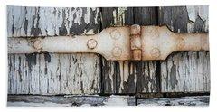 Beach Towel featuring the photograph Antique Shutter Detail by Elena Elisseeva