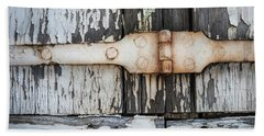 Beach Sheet featuring the photograph Antique Shutter Detail by Elena Elisseeva