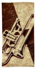 Antique Trumpet Club Beach Towel