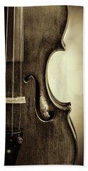 Antique Violin 1732.34 Beach Towel