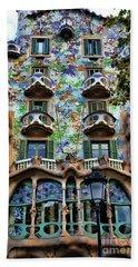 Antoni Gaudi's Casa Batllo Barcelona Spain  Beach Sheet