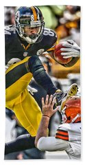 Antonio Brown Steelers Art 5 Beach Sheet