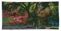 Colorfication - Treescape My Backyard  Beach Towel