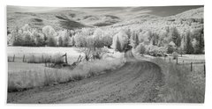Beach Towel featuring the photograph Any Road Can Take You There by John Rivera