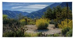 Beach Towel featuring the photograph Anza-borrego Desert State Park Desert Flowers by Randall Nyhof