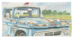 Apache Out To Pasture Beach Towel