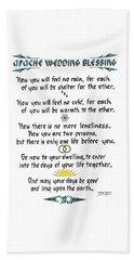 Apache Wedding Blessing Beach Sheet