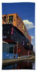 Apartment Block By The Ashton  Canal Ancoats New Islington Manchester England Beach Towel