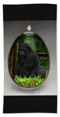 Ape Gorilla Art Beach Towel