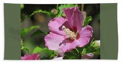 Aphrodite Rose Of Sharon Hibiscus -  Floral - Macro Photography Beach Sheet