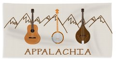 Beach Towel featuring the digital art Appalachia Mountain Music by Heather Applegate