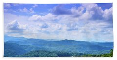 Appalachian Beauty - Mountain Landscape Beach Sheet by Barry Jones