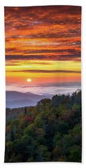Appalachian Mountains Asheville North Carolina Blue Ridge Parkway Nc Scenic Landscape Beach Sheet