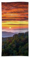 Appalachian Mountains Asheville North Carolina Blue Ridge Parkway Nc Scenic Landscape Beach Towel